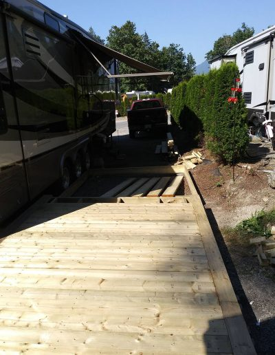 Build-8'-by-40'-Deck-for-5th-Wheel-Trailer-Underway